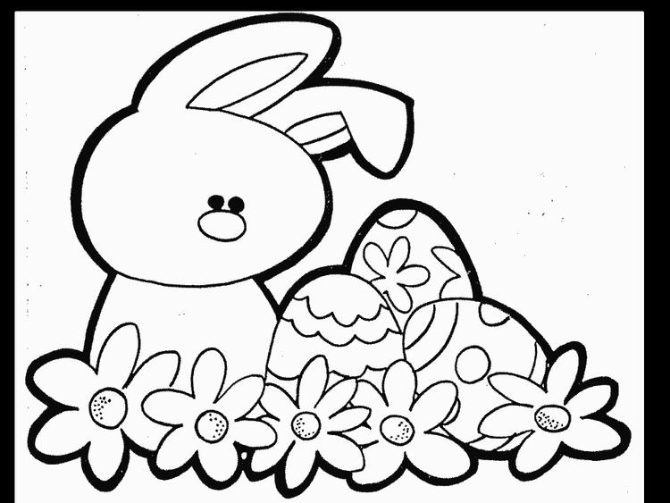 Free Toddler Easter Coloring Pages 1