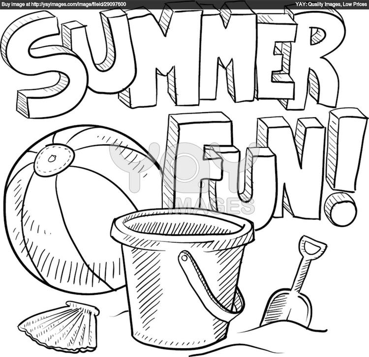 Free Toddler Summer Coloring Pages 1