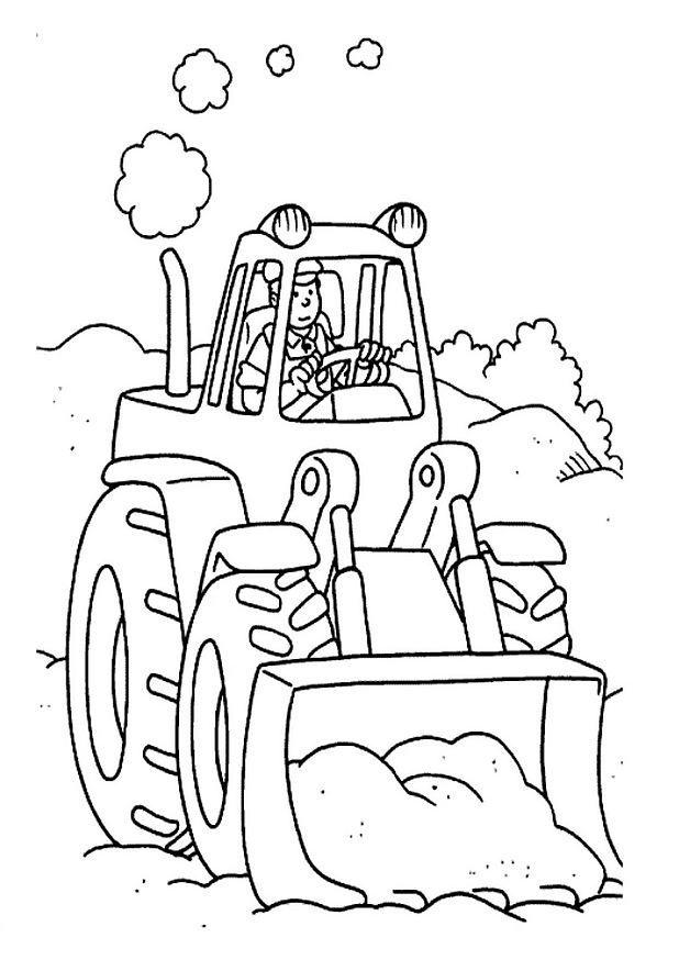 Free Tractor Coloring Pages For Kids 2
