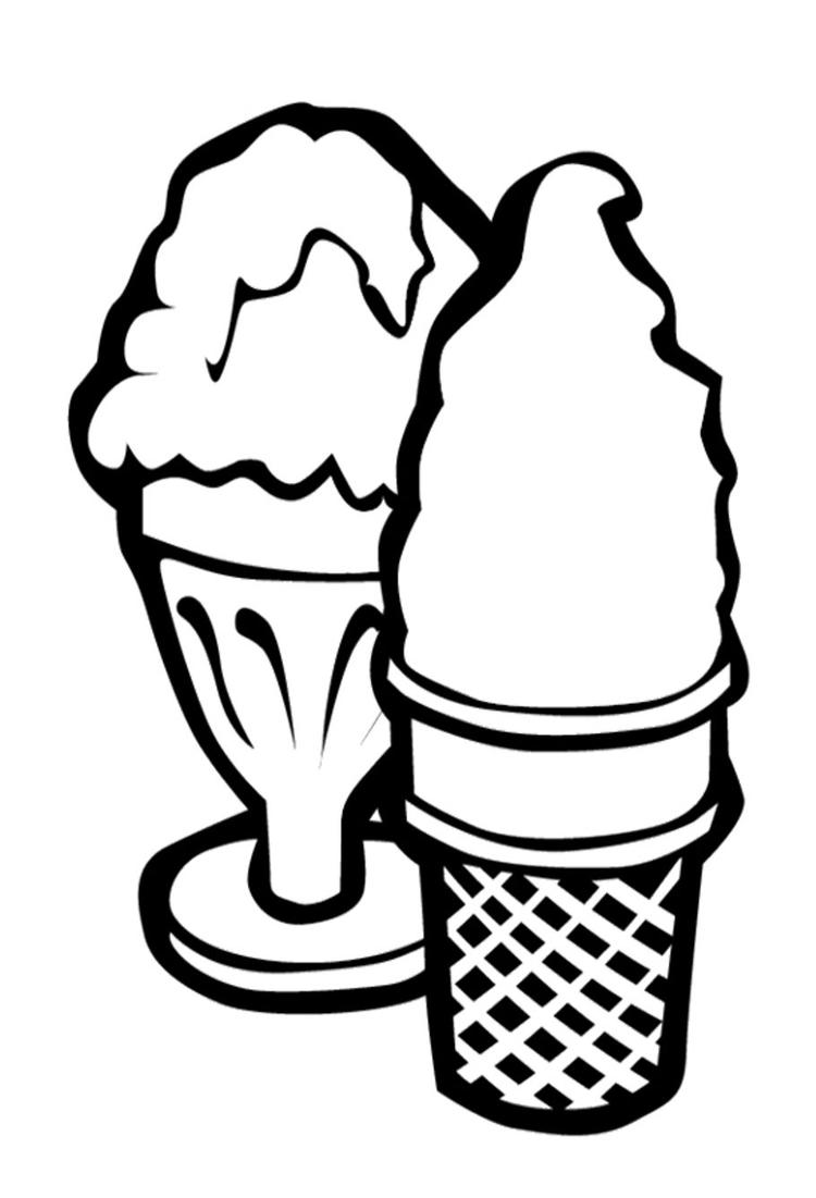 Free Two Ice Cream Coloring Pages
