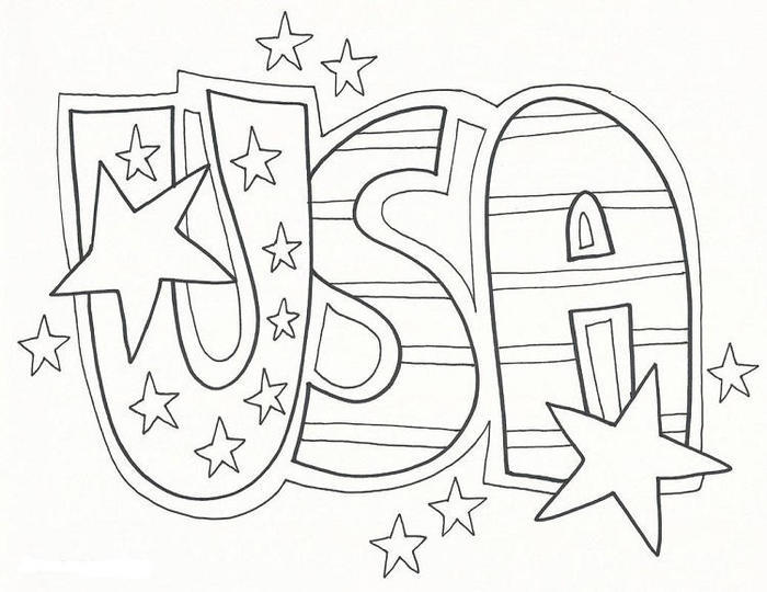 Free Usa Coloring Pages