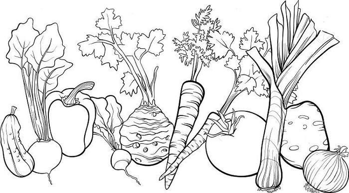 Free Vegetables Coloring Pages
