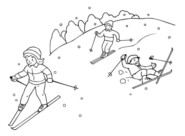 Free Winter Coloring Pages Ice Skating