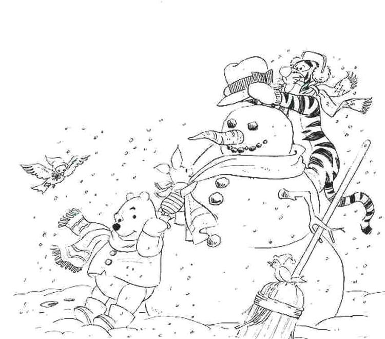 Free Winter Coloring Pages Winnie The Pooh