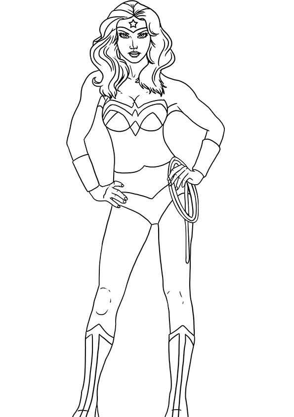 Free Wonder Woman Coloring Pages For Kids