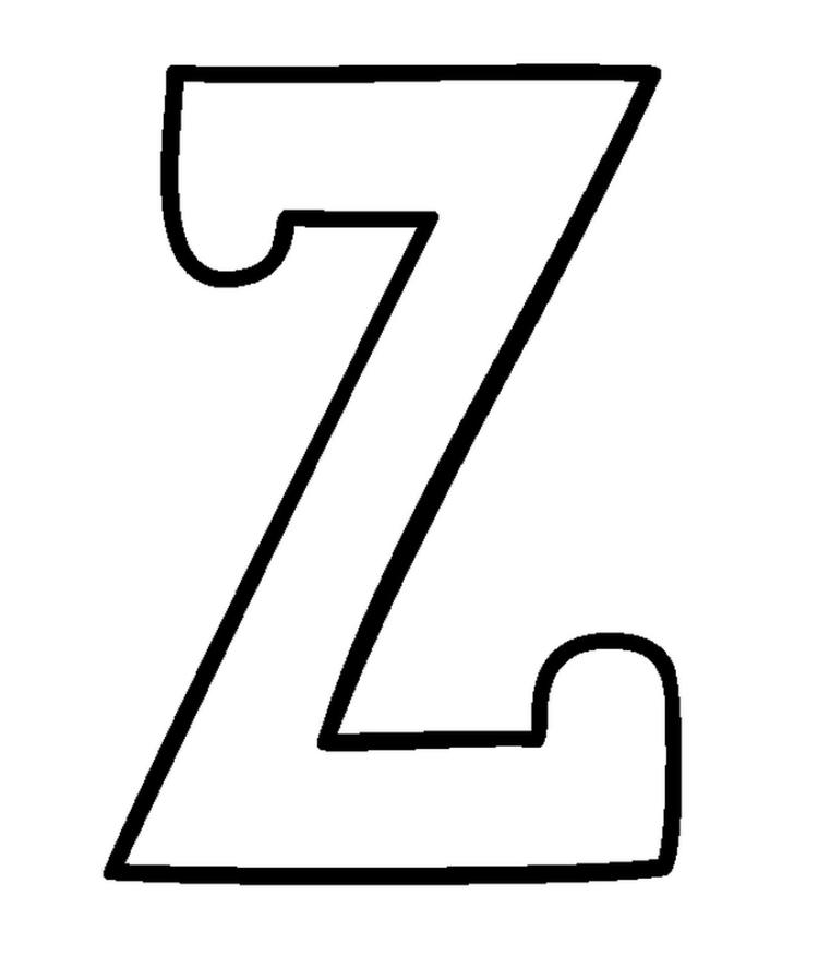 Free Z Alphabet Coloring Pages