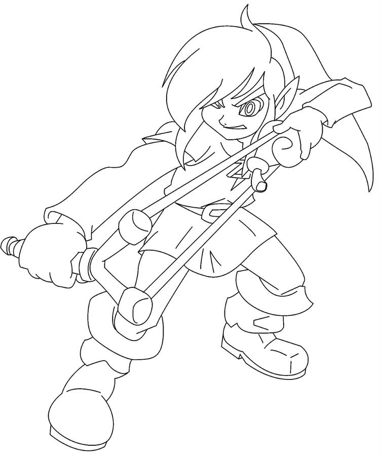 Free Zelda Coloring Pages For Kids