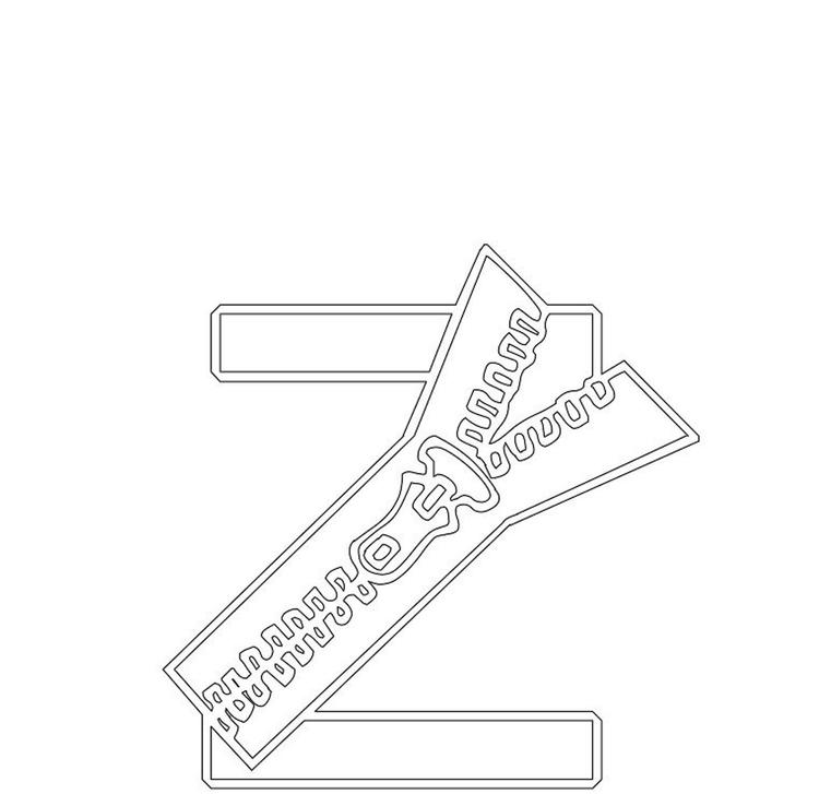 Free Zipper Alphabet Coloring Pages