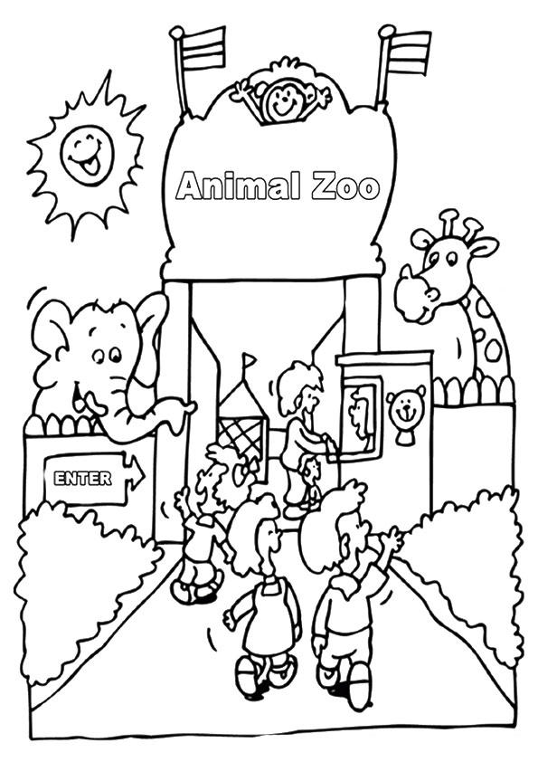 Free Zoo Coloring Pages For Kids