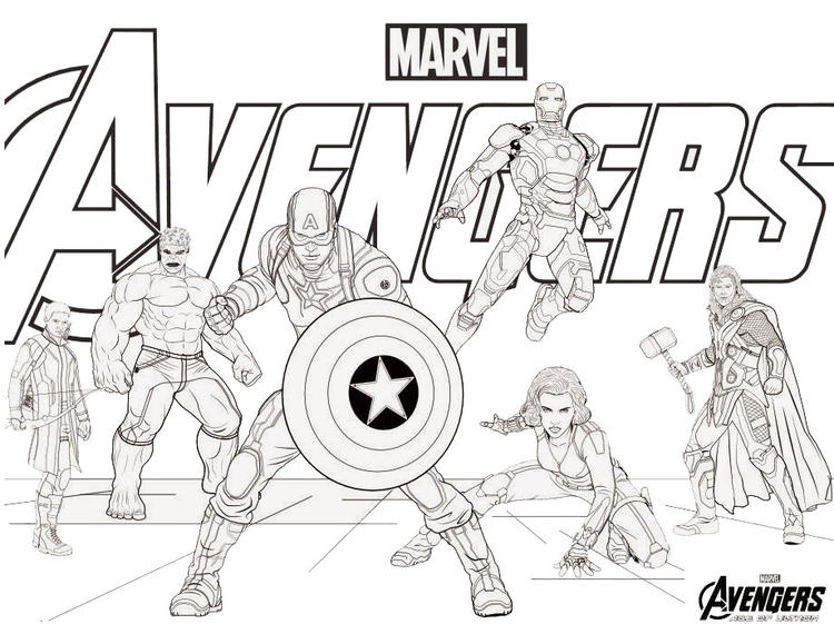 Freeprintable Avengers Coloring Pages