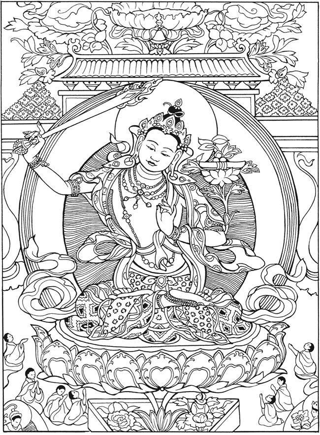 Freeprintable Budhism Coloring Pages