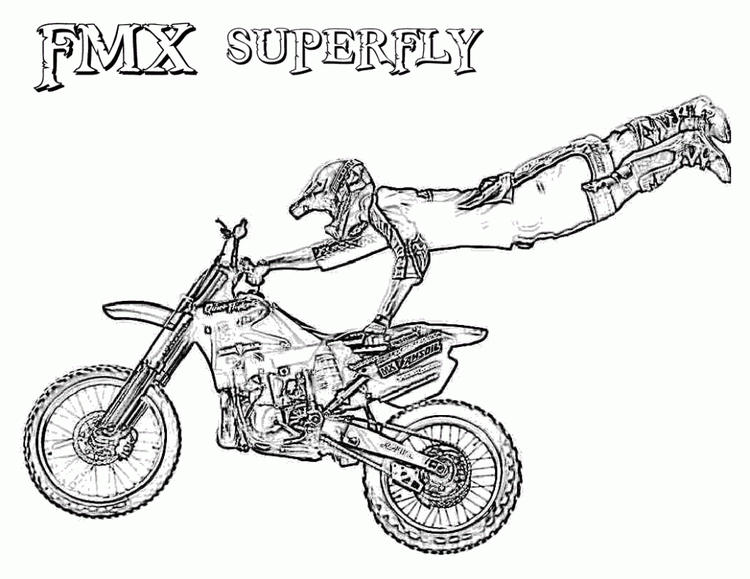 Freestyle Dirt Bike Coloring Pages