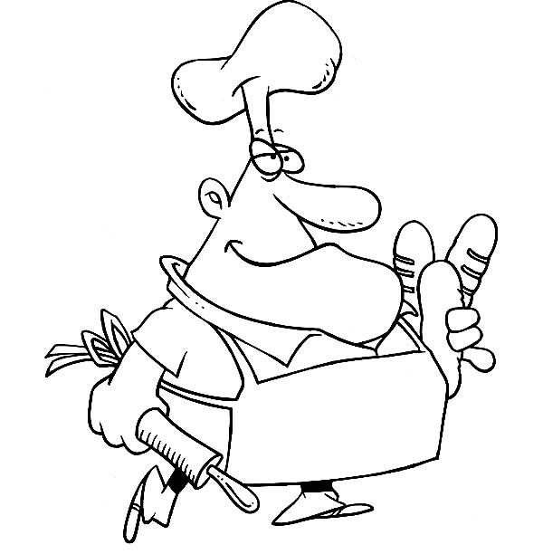 French Chef Bakery Coloring Pages