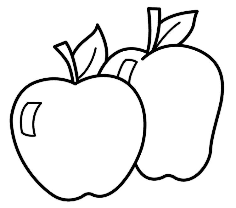 Fresh Apple Coloring Pages