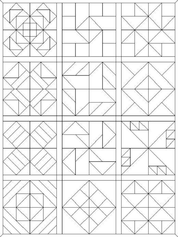 Fresh Quilt Coloring Pages