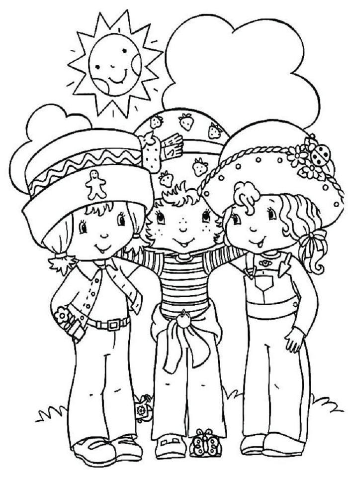 Friendship People Coloring Pages