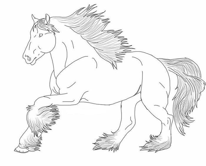 Friesian Horses Coloring Pages