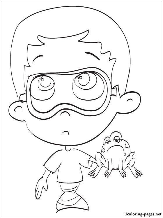 Frog Bubble Guppies Coloring Pages