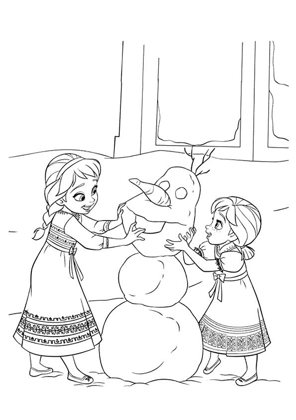 Frozen Coloring Pages Elsa And Anna Kids