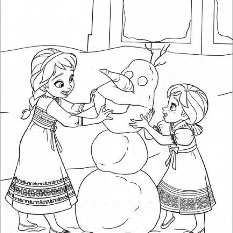 Frozen Coloring Pages For Toddlers