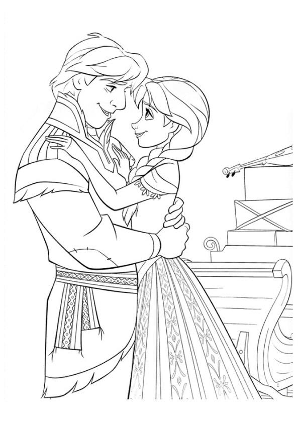 Frozen Coloring Pages Kristoff And Anna