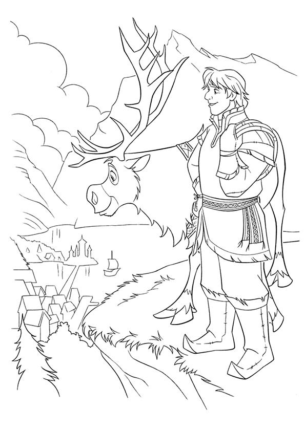 Frozen Coloring Pages Kristoff And Sven