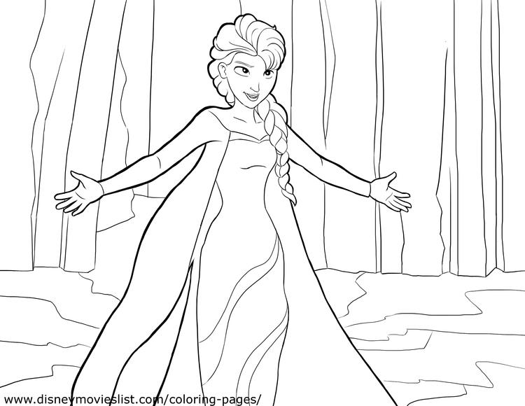 Frozen Coloring Pages Sheet