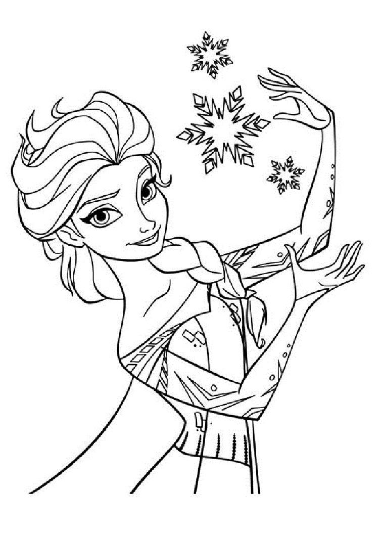 Frozen Coloring Pages Snowflakes