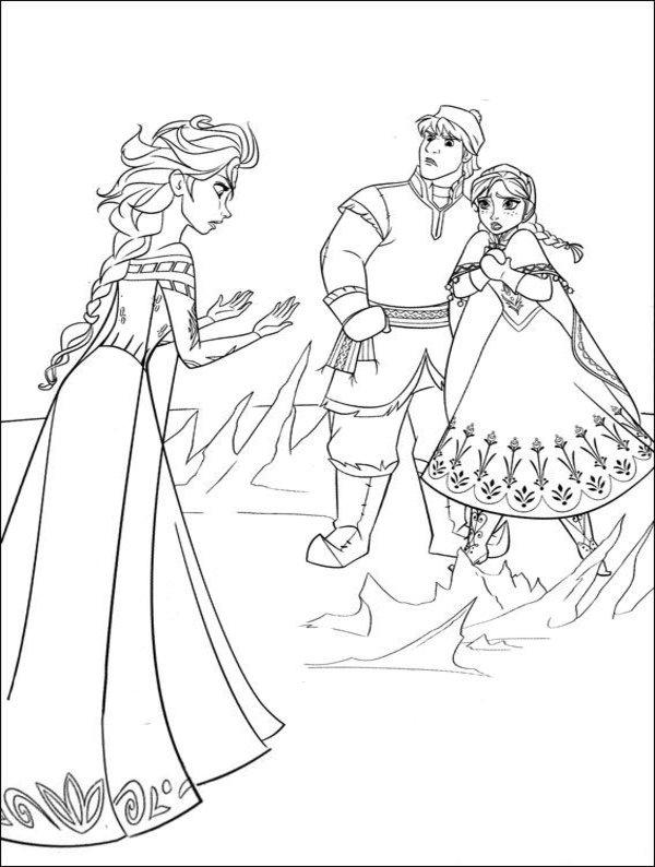 Frozen Figures Colouring Pages