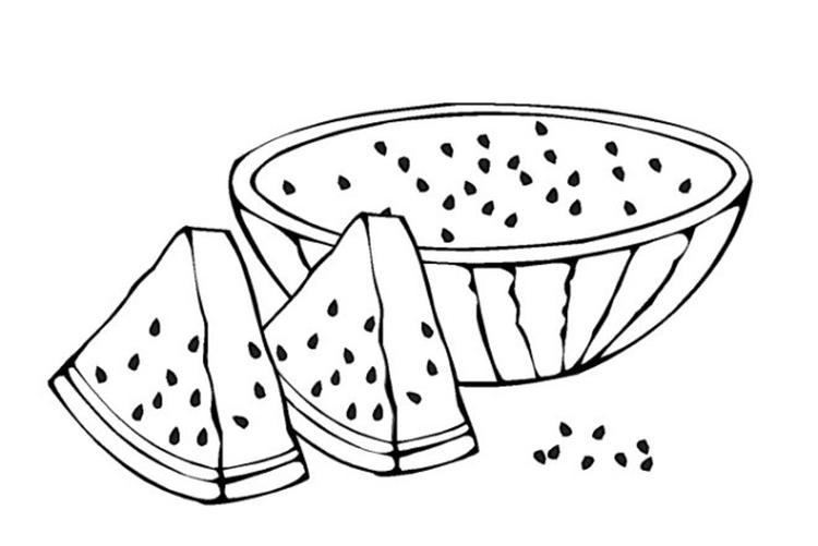 Fruit Coloring Pages Sliced Watermelon