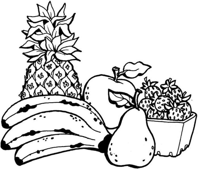 Fruit Coloring Pages To Print