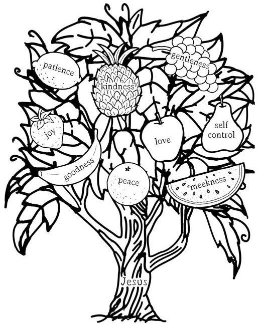 Fruit Of The Spirit Coloring Picture Printable