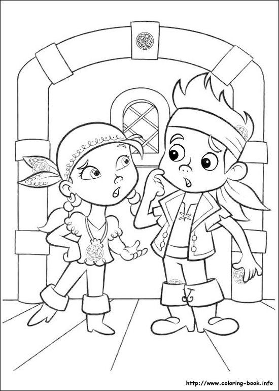Full Resolution Jake And The Neverland Pirates Coloring Page