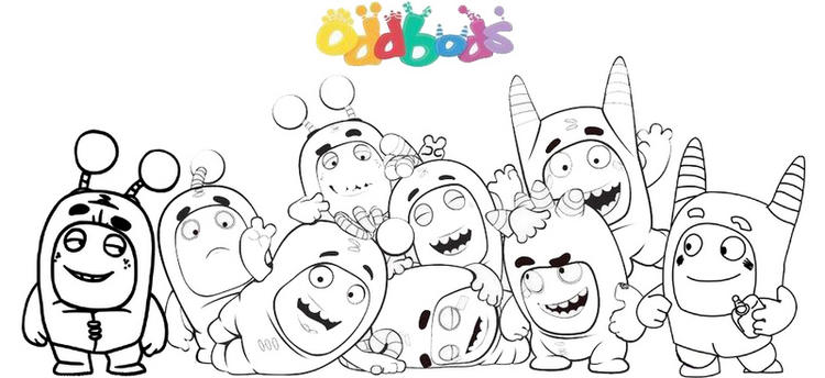 Fun And Fantastic Oddbods Printable Coloring Pages
