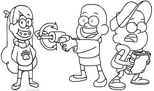 Fun And Simple Gravity Falls Disney Coloring Page