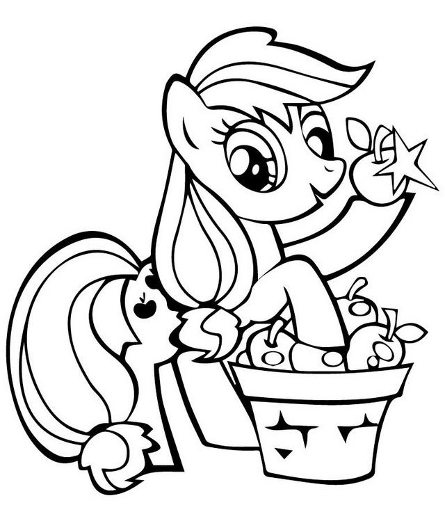 Fun Applejack Mlp Friendship Coloring Picture For Boys And Girls