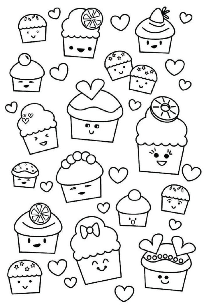 Fun Cupcakes Coloring Pages