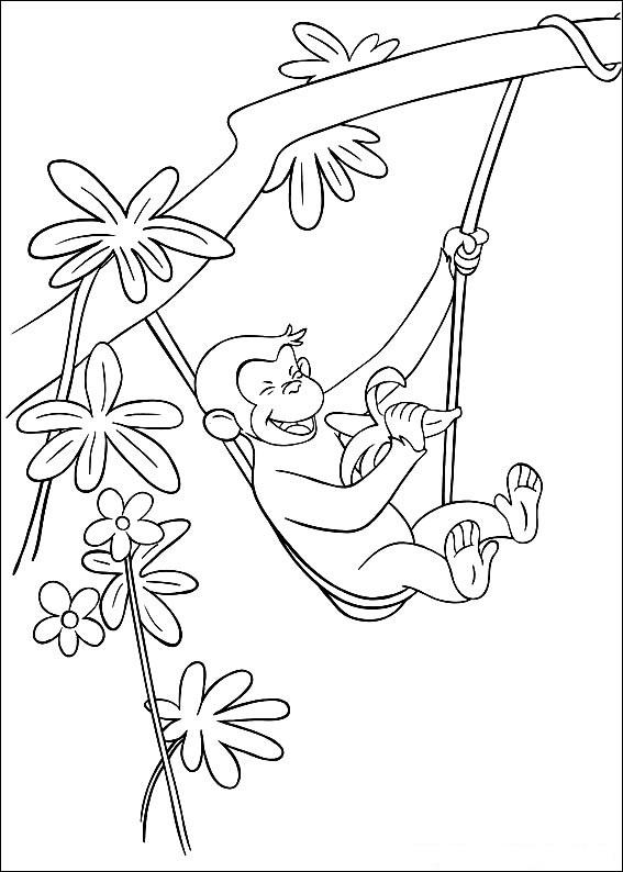 Fun Curious George Coloring Pages