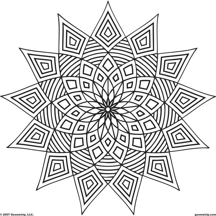 Fun Geometric Pattern Coloring Pages For Adults