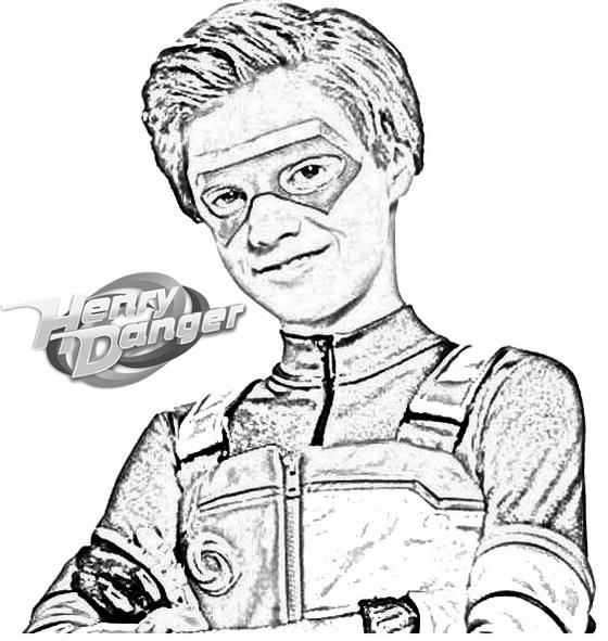 Fun Henry Danger Coloring And Drawing Page
