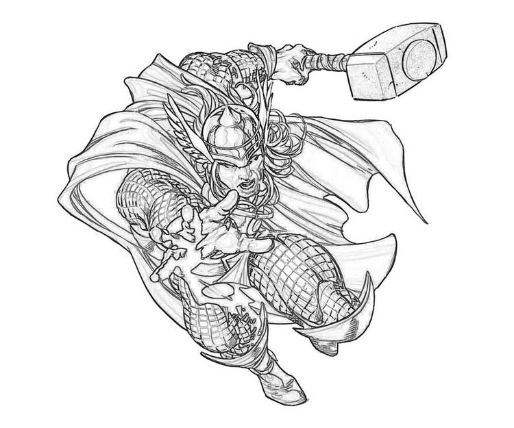 Fun Marvel Coloring Pages Thor