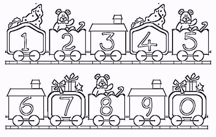 Fun Number Coloring Pages For Kids