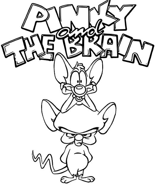 Fun Pinky And The Brain Coloring Page For Kids