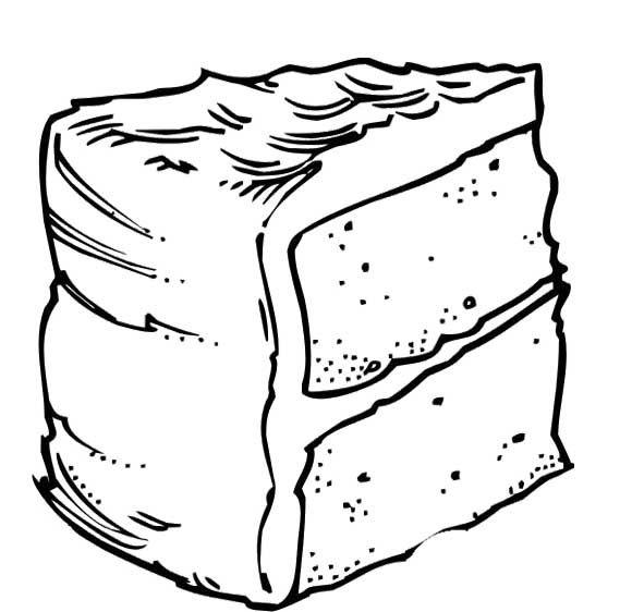 Fun Slice Cake Coloring Pages