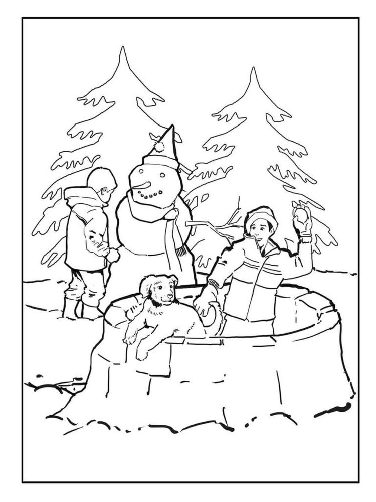 Fun Snow Winter Coloring Pages