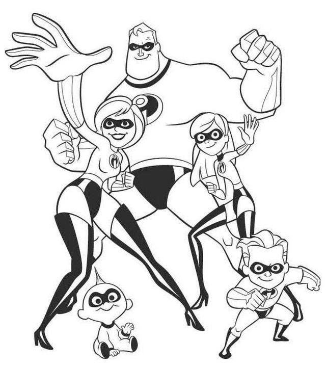 Fun The Incredibles Coloring Page For Kids