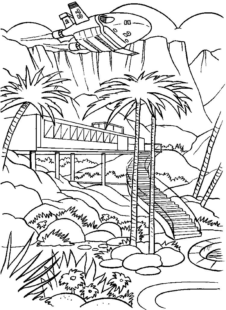 Fun Thunderbirds Coloring Sheets