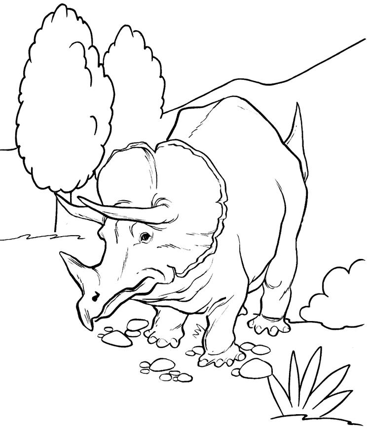 Fun Triceratops Coloring Page Types Of Dino