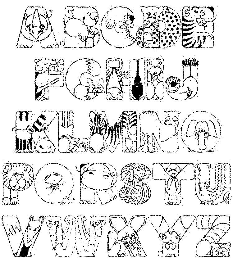 Funny Abc Coloring Pages