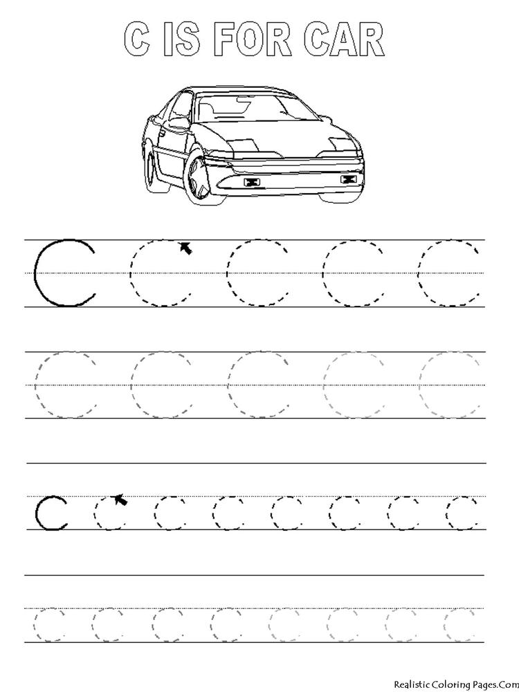 Funny Abc Tracing Coloring Pages